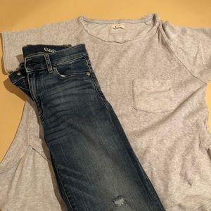 Denim - Top + Jeans Set